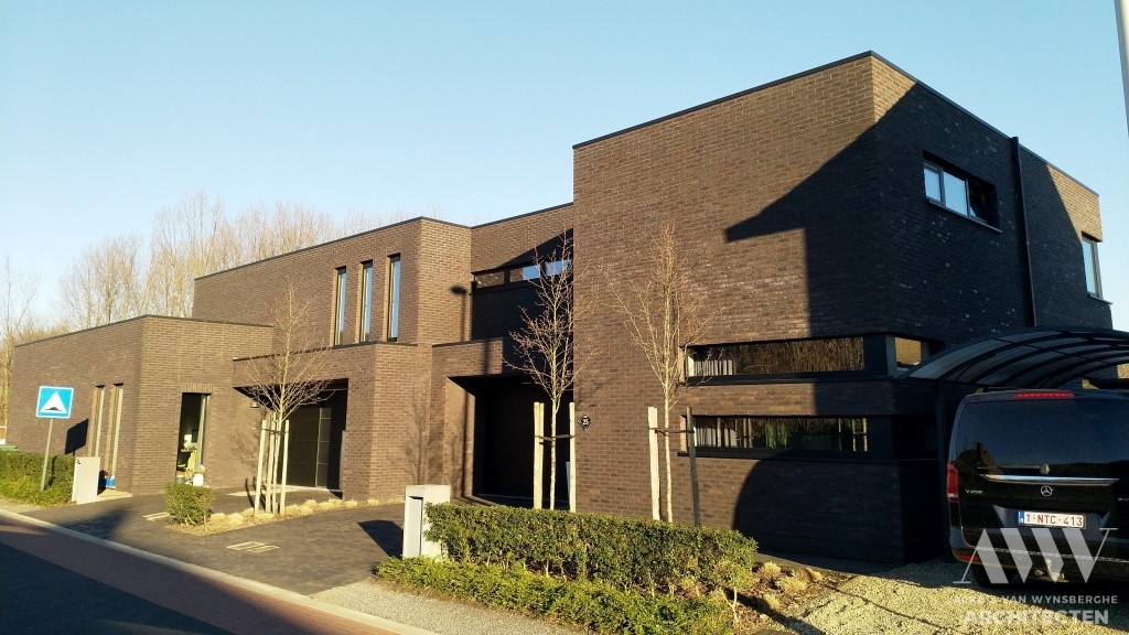 A modern houses moderne woningen A-L Wachtebeke (1)